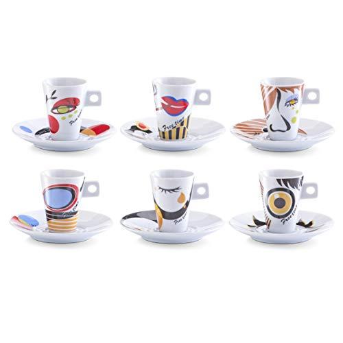 Zeller 26505 Espressotassen Set 12-teilig Faces