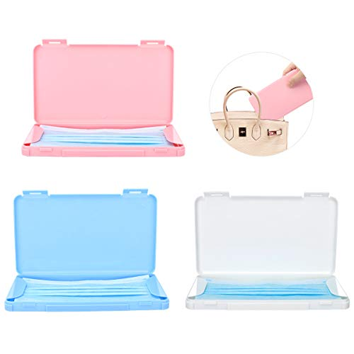MoKo Maske Aufbewahrungsbox, 3 Pack Tragbare Maskenbox Wiederverwendbar Masken Etui Staubdichte Mundgesichtsabdeckung Box Maskenverschmutzung Vermeiden für...