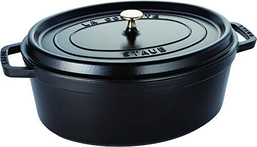 STAUB Gusseisen Bräter/Cocotte, Oval 37 cm, 8 L, Schwarz