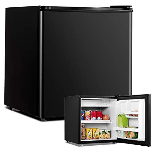 COSTWAY 48L Mini Kühlschrank Flaschenkühlschrank Getränkekühlschrank mit Gefrierfach/wechselbarer Türanschlag / 7 Temperaturstufe einstellbar / 49cm Höhe...