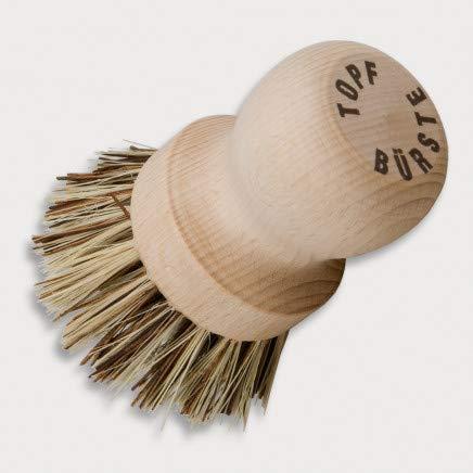 HOFMEISTER® Topfbürste, 8 cm, löst starken Schmutz aus Töpfen & Pfannen, schont die Antihaftbeschichtung, hitzebeständigen Union-Fibre-Naturborsten,...