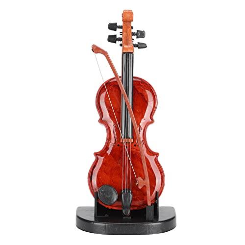 Pssopp Cello Spieluhr Holz Musikinstrument Modell Wind Up Cello Spieluhr mit Standfuß für Miniatur Geburtstagsgeschenk