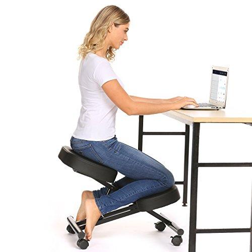 Kniestuhl, Verstellbarer Kniestuhl, ergonomischer Hocker, geeignet für Zuhause und Büro, verbessert die Haltung, um Nacken- und Rückenschmerzen zu lindern...