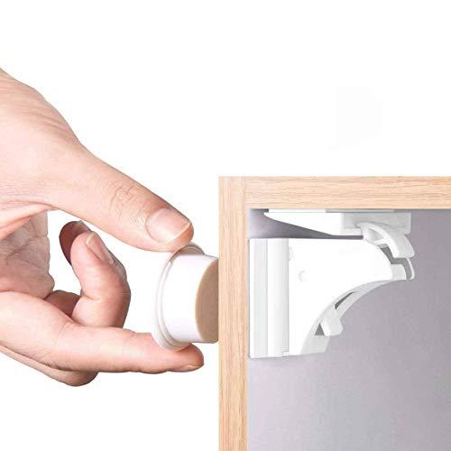 Magnetische Kindersicherung Schrankschloss   18 Schlösser mit 3 Schlüssel   WoZon Baby Sicherheit Unsichtbare Schubladensicherung   Kindersicherung für...