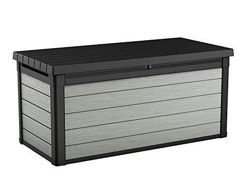Koll Living Aufbewahrungsbox Maxi - hochwertige Gartenbox mit Gasdruckfedern - viel trockener Stauraum für Sitzauflagen oder Gartengeräte - 100% wasserdicht -...