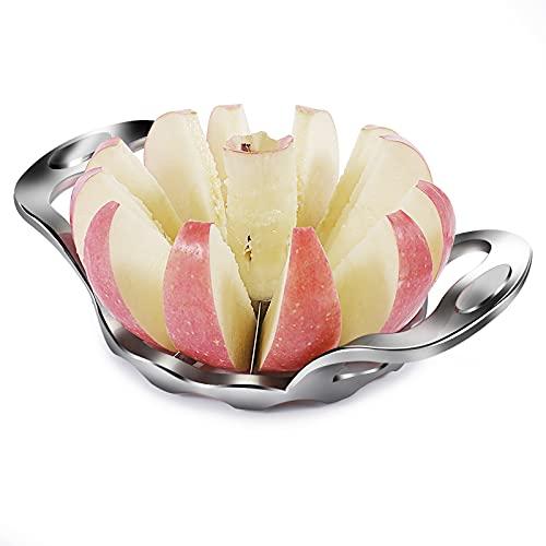 Newness Apfelschneider, Apfelteiler mit 12 Klingen und Ergonomic Grip Handle, Apfelschäler Obstschneider Apfelportionierer Apfelausstecher, ideal für Äpfel...