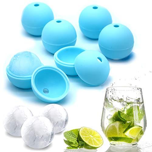 Hector&Dwight N.ICY Balls - 4 cm Eiskugel - Silikon Eiskugelform 6 Stück - BPA Free - Runde Eiswürfelform für Cocktails und alle Getränke