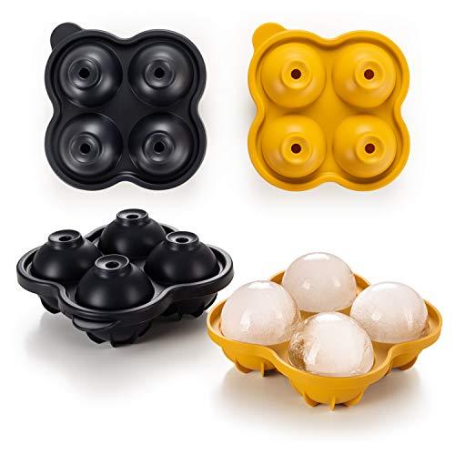 Blumtal Eiswürfelform Silikon Kugeln - Kugelgröße XXL, Eiskugelform BPA frei, Leichtes Herauslösen der Eiswürfel, Silikon Form, Eiswürfelform Kugel
