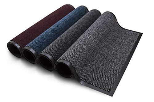 Carpet Diem Rio Schmutzfangmatte - 5 Größen - 10 Farben Fußmatte mit äußerst starker Schmutz und Feuchtigkeitsaufnahme - Sauberlaufmatte in dunkel grau -...