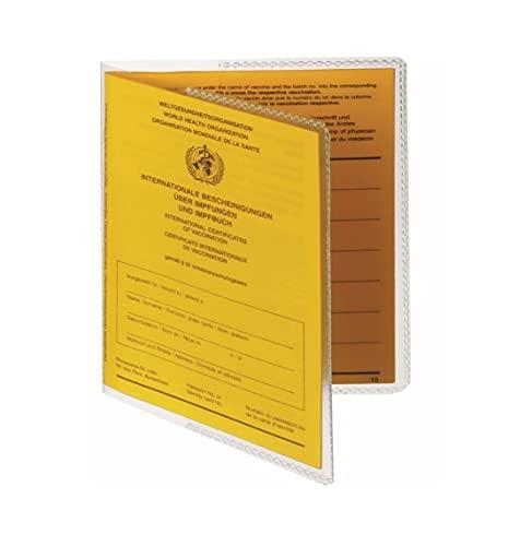Schutzhülle passend für alle Internationalen Impfausweise 97mm x 135mm Umschlaghülle - Impfpass - Reisepass - Made in Germany - passt Nicht für 105x145mm -...