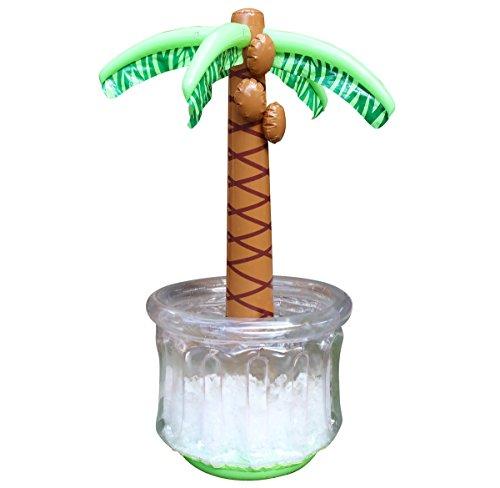 Cepewa Getränkekühler Aufblasbar Partykühler Palme Getränke Kühler Eiskühler 150 x 97 cm