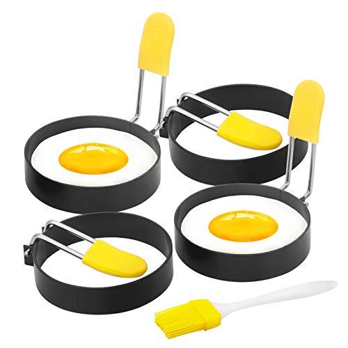 4er Spiegeleiformen Ei Ring Form Edelstahl Pancake Formen Antihaft Pfannkuchen Form Eierformen für Pfanne