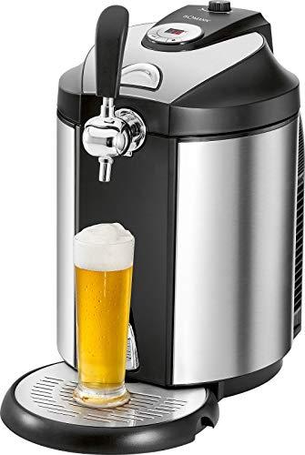 Bierzapfanlage für 5 Liter mit Kühlung Fässer Tischzapfanlage Druckbelüftet für Tollen Bierschaum (Temperaturanzeige, Abnehmbare Tropfschale, Kühlsystem,...