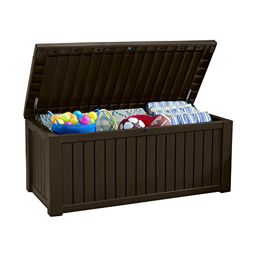Koll Living Auflagenbox / Kissenbox Koll Living 570 Liter l 100% Wasserdicht l mit Belüftung dadurch kein übler Geruch / Schimmel l Moderne Holzoptik l Deckel...