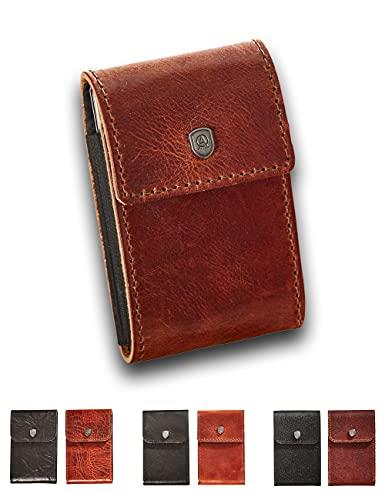 Kartenetui JES, Slim Wallet mit Platz für 8-10 Karten und Diverse Geldscheine. Produziert aus italienischem Leder, RFID-Blocker Karte gegen Datendiebstahl...