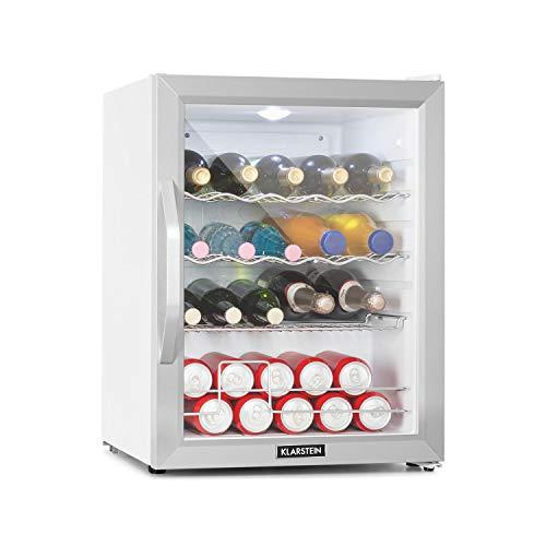 Klarstein Beersafe XL - Getränkekühlschrank, 60 Liter, 5 Kühlstufen: 3-10 °C, 42 dB, 2 flexible Metallböden, LED-Licht, Kühlschrank für Flaschen, Mini...