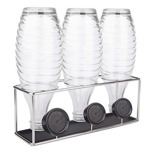 HunDun SodaStream Flaschenhalter, Abtropfhalter aus Edelstahl für Crystal, Easy, Fuse und Emil Glasflaschen, spülmaschinenfest