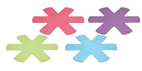 Colourworks Kratzfeste Pfannenschützer, Polyester, Mehrfarbig, 38 x 35 x 0.2 cm, 4-Einheiten