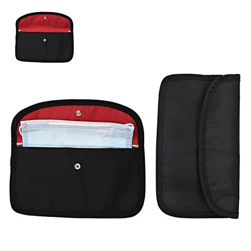 2X Modische Masken-Tasche für Damen & Herren   Alternative zur Maskenbox für Mundschutz & Aufbewahrungsbox für Masken   Ideal zur Vermeidung von...