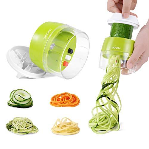Adoric Spiralschneider Hand [ 3 in 1 ] Gemüse Spiralschneider, Gemüsehobel Gemüsenudeln Schneider für Karotte, Gurke, Kartoffel,Kürbis, Zucchini, Zwiebel,...
