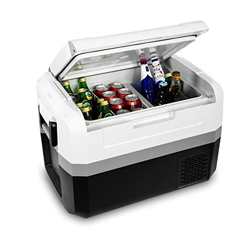 Fullwatt ZXY45, elektrische Kompressor-Kühlbox,45 L,12/24/230 V,Mini-Kühlschrank für Auto, Lkw, Boot, Reisemobil und Steckdose mit USB-Schnittstelle,...