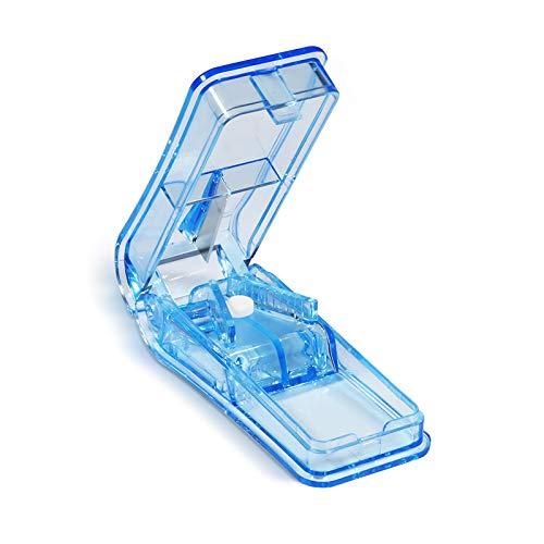 Opret Tablettenteiler für Große und Kleine Tabletten Für Tabletten in ein Halbes Viertel Schneiden Blau