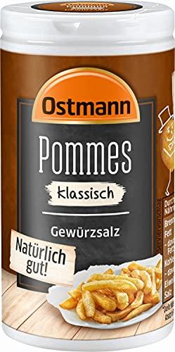 Ostmann Pommes Gewürzsalz klassisch 70 g Pommesgewürz Bratkartoffelgewürz, spezielles Pommessalz, für sagenhaft leckere Pommes Frites, Menge: 4 Stück
