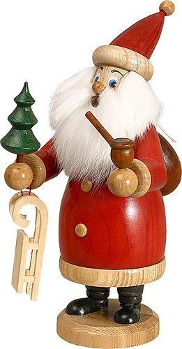 Räuchermännchen Weihnachtsmann rot - 20 cm - Original Erzgebirge Räuchermann - Drechselwerkstatt Uhlig