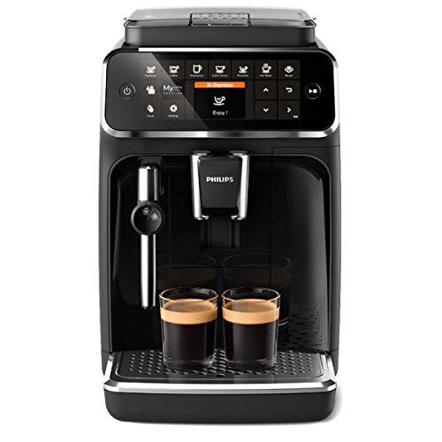 Philips 4300 Serie EP4321/50 Kaffeevollautomat, 5 Kaffeespezialitäten (Panarello) Matt-Schwarz/Klavierlack-schwarze Arena