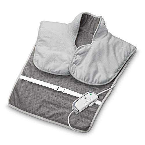 Medisana HP 630 Wärmecape für Nacken, Schulter und Rücken, elektrisch, Wärmeponcho mit 4 Temperaturstufen, Überhitzungsschutz, Abschaltautomatik, waschbar