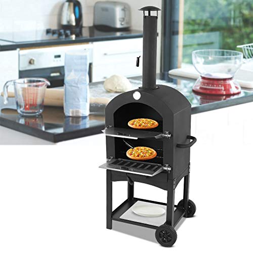 T-Day Pizzaofen, Pizzaofen zu Hause, hochwertiges, langlebiges, bewegliches Outdoor-Garten-Pizza-Ofen-Brot-Backen-Kochwerkzeug