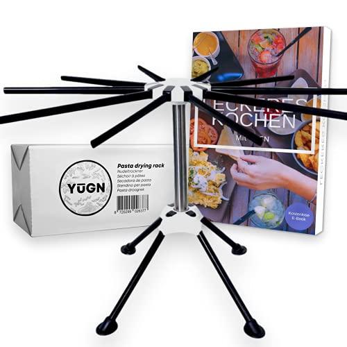 YUGN® Nudeltrockner Edelstahl Pastatrockner Nudelständer - Enthält 10 Arme und Ist Spülmaschinenfest - Für Die Herstellung Von Nudeln und Spaghetti -...