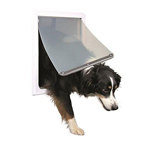 Trixie Pet Products 2-Wege-verriegelbare Hundetür, mittlere bis große Hunde, Weiß