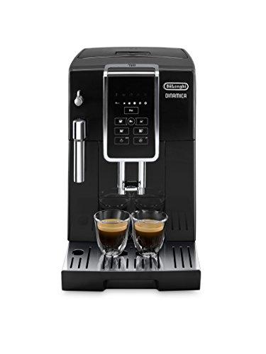 De'Longhi Dinamica ECAM 350.15.B Kaffeevollautomat mit Milchaufschäumdüse für Cappuccino, mit Espresso und Kaffee Direktwahltasten und Digitaldisplay mit...