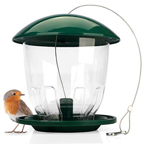 WILDLIFE FRIEND | Vogelfutterspender zum Aufhängen 4 Liter | Vogelfutterstation für Wildvögel | Vogel Futterstation, Futterspender Vögel, Bird Feeder