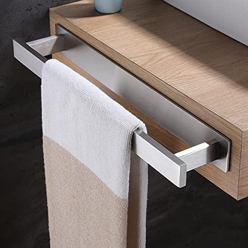 YIGII Handtuchhalter Ohne Bohren - SUS304 Edelstahl Handtuchstange 40 cm Selbstklebend Handtuchring für Küche und Bad
