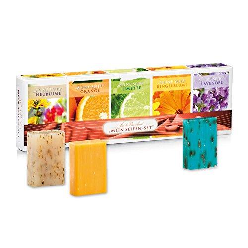 Sanct Bernhard Seifen-Set 5er Pack Heublumen-, Orangen-, Limetten-, Ringelblumen- und Lavendel-Seife 5 x 100g