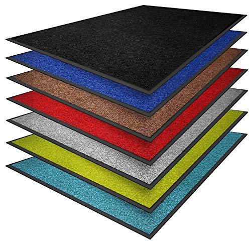 casa pura® Premium Fußmatte in attraktiver Optik   Schmutzfangmatte in vielen Größen   rot   90x150cm
