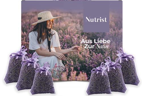 nutrist 10x Lavendelsäckchen - Duftsäckchen Kleiderschrank | Lavendel Duftsäckchen zum Einschlafen | Mottenschutz für Kleiderschrank | Erfrischender Duft...
