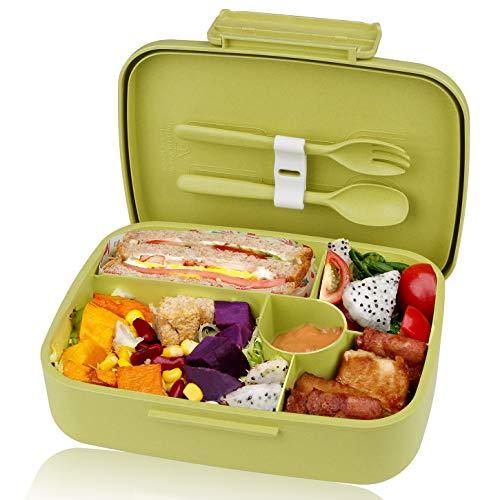 KUPBOX Brotdose Bento Box für Kinder, auslaufsichere Lunch Box mit fünf separat Fächer, BPA Frei, Geeignet für Mikrowellen und Spülmaschinen, kein...