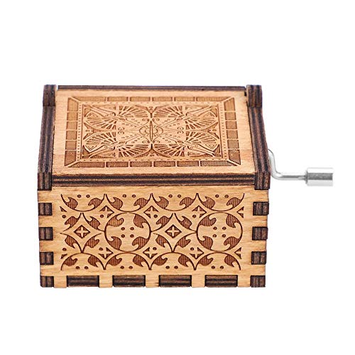Handkurbel aus Holz – 1 Stück Holz-Handkurbel Musikbox Mechanische Handkurbel Klassische Musikbox Musikbox Handwerk Geburtstag Geschenk Zuhause Dekoration...