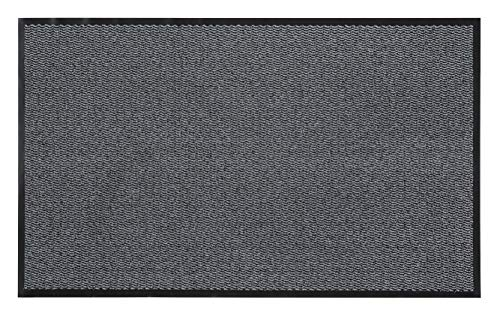 andiamo Schmutzfangmatte, Fußmatte aus Polypropylen – Indoor/Outdoor geeignet - in 80 x 120 cm Hellgrau – 5 mm Höhe