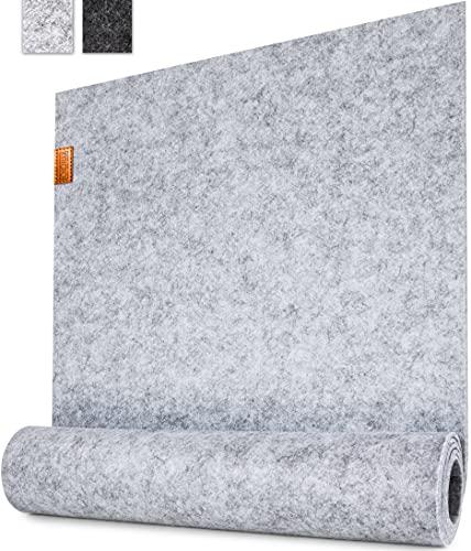 Miqio ® - Design Tischläufer aus Filz abwaschbar | Marken Label aus Echtleder | Tischband 150x40 cm | Skandinavische Deko - passend Tischsets, Platzsets,...