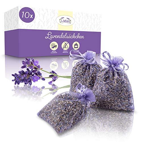 LADULA ® 10x Lavendelsäckchen – Duftsäckchen für Kleiderschrank – Langanhaltender Duft – natürlicher Mottenschutz – Lavendel zur Entspannung