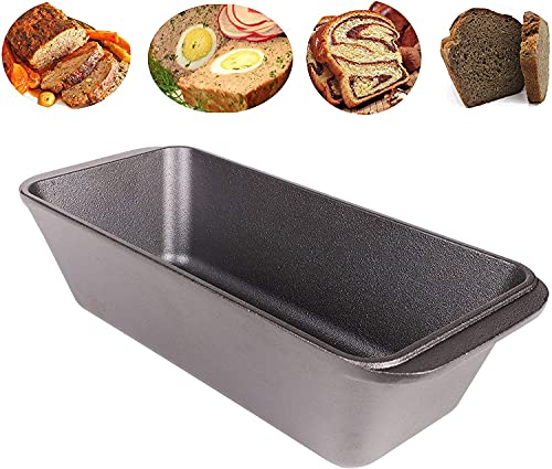 WEES-CK bereits eingebrannte Gusseisen Kastenform - Brotbackform, Königskuchenform, Auflaufform, Bräter 28,5x12x7,5 cm