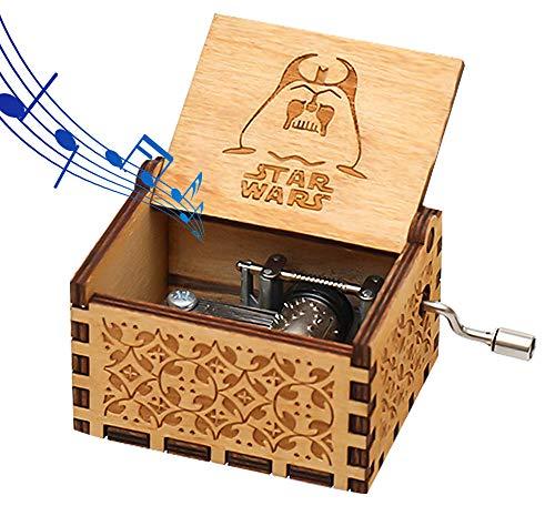 Funmo - Reine Hand-klassischen Star Wars Musik-Box Hand-hölzerne Spieluhr kreative Holz Handwerk