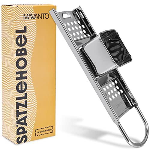 MAVANTO® Spätzlehobel Edelstahl für selbstgemachte Spätzle & Knöpfle - Spülmaschinenfeste Spätzlereibe geeignet für alle Töpfe bis Ø 30cm