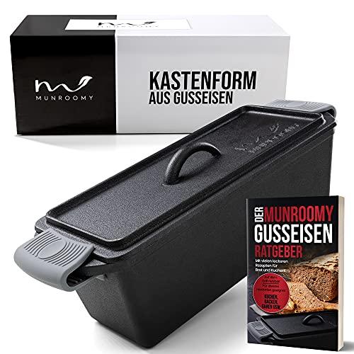 MUNROOMY Gusseisen Brotbackform mit Deckel - flexibel einsetzbar & extrem langlebig - Gusseisen Kastenform für perfekte Back- und Kochergebnisse - ideal zum...