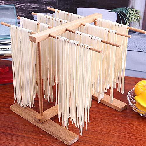 Primlisa Pastatrockner Nudelstander Stendipasta Aus Buchenholz Hölzerne zusammenklappbare Teigwaren-Spaghetti-Trockengestell Teigwaren-Trockengestell...