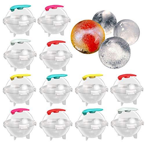 Ziyero 12 STK Runde Eiswürfel Schimmel Große Kugelform Eiswürfel Eiskugelform Eisbälle für Whisky, Cocktails, Saft, Süßigkeiten, Götterspeise,...